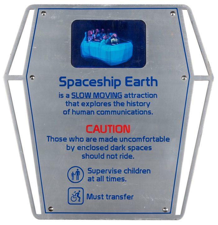 Disney Auction Spaceship Earth