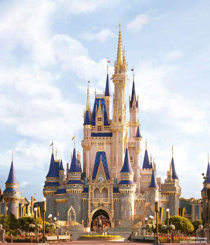 Cinderella Castle concept art Disney