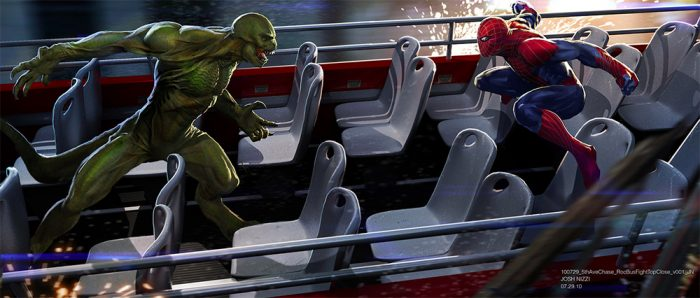 Amazing Spider-Man - Cut Bus Chase Concept Art