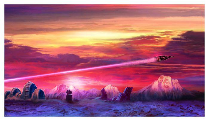 Mark Chilcott - Star Wars - Snowspeeder
