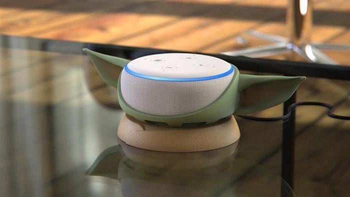 Amazon Echo Dot Baby Yoda Base