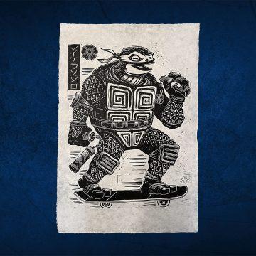 Attack Peter Teenage Mutant Ninja Turtles Prints