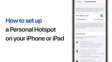Set up Personal Hotspot